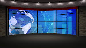 News TV Studio Set 213 Virtual Green Screen Background Loop