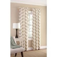mainstays chevron polyester cotton curtain panels set of 2