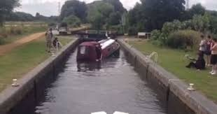 nadine yacht sinking plane crash narrowboat sinks in seconds in dramatic just moments after