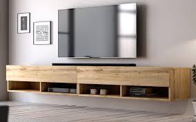 tv lowboard epsom in eiche wotan board für flat tv unterteil hängend 280 cm unterschrank als hängeschrank