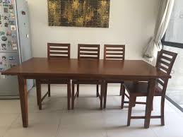 MUST GO!Teak Wood Stretchable Dining Table With 6 Chairs, Furniture ... Danish Mondern Johannes Norgaard Teak Ding Chairs With Bold Tables And Singapore Sets Originals Table 4 Uldum Feb 17 2019 1960s 6 By Greaves Thomas Mcm Teak Table Niels Moller Chairs Etsy Mid Century By G Plan Round Ding Real 8 Seater Jamaica Set Temple Webster Nisha Fniture Sheesham Wooden Balcony Vintage Of 244003 Vidaxl Nine Piece Massive Chair On Retro