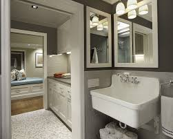 Laundry Room Sink With Built In Washboard by Smoke Glass Subway Tile Gray Subway Tile Backsplash Gray Quartz