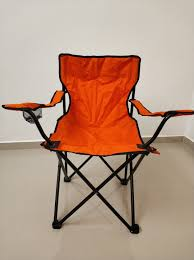 Tangs Camping Chair X 1 Orange Color, Travel, Travel Essentials ... 22x28inch Outdoor Folding Camping Chair Canvas Recliners American Lweight Durable And Compact Burnt Orange Gray Campsite Products Pinterest Rainbow Modernica Props Lixada Portable Ultralight Adjustable Height Chairs Mec Stool Seat For Fishing Festival Amazoncom Alpha Camp Black Beach Captains Highlander Traquair Camp Sale Online Ebay