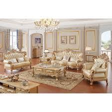 klassische italienische royal gold geschnitzte möbel