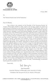 ESAP s Letter in Support of NEH Grant