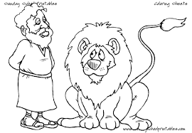 Daniel And The Lions Den Coloring Pages In Inside Lion S Page