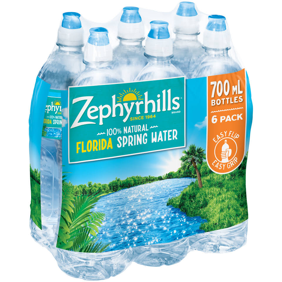 Zephyrhills Natural Spring Water - 23.7oz, Pack of 6