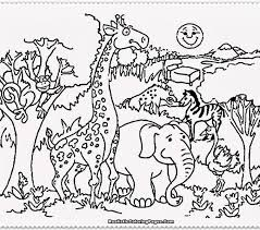 Fancy Zoo Animal Coloring Pages