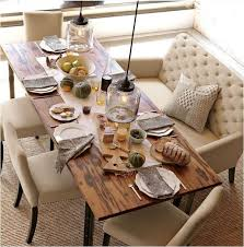 Dining Room Table With Bench Back Architecture Home Design Regard To Prepare 19