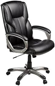 amazon com amazonbasics high back executive chair black