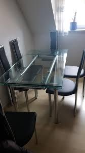 designer esszimmer glastisch ausziehbar