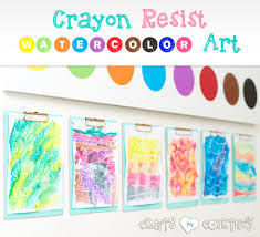 Easy To Make Spring Inspired Crayon Resist Watercolor Art For Kids