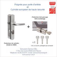 barillet securite porte entree poignée pour porte d entrée équipée d un cylindre haute sécurité