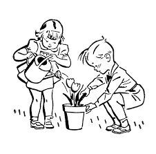 Gardening Clipart Black And White Letters Example