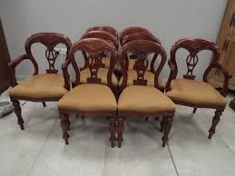 Set Of Eight (6+2) Antique Style Mahogany Dining Chairs | EBay Antique Victorian Ref No 03505 Regent Antiques Set Of Ten Mahogany Balloon Back Ding Chairs 6 Walnut Eight 62 Style Ebay Finely Carved Quality Four C1845 Reproduction Balloon Back Ding Chairs Fiddleback Style Table And In Traditional Living Living Room Upholstery 8 Upholstered Lloonback Antique French