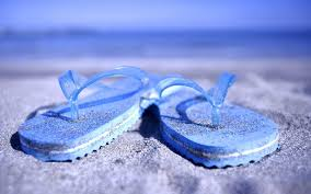 Flip Flops On The Beach Wallpaper