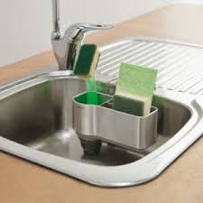 Simplehuman Sink Caddy Stainless Steel by Simplehuman Sink Caddy Stainless Steel With Silicone Brush