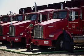 100 Halliburton Trucks Antitrust Officials Hold Off On Baker Hughes Decision WSJ