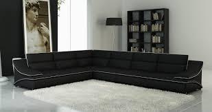 canape angle modulable deco in canape d angle modulable cuir design noir et blanc