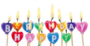 Download Happy birthday candles stock image Image of decorated