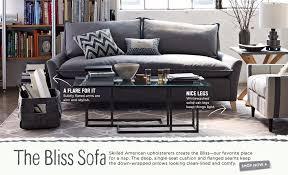 West Elm Bliss Sofa by West Elm Bliss Sleeper Sofa 2430