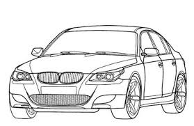 BMW M5 Car Coloring Pages Printable
