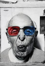 We Had One With The Eyes Of A Baby And Here Is Very Realistic Black White Wall Painting From Older Generation Cool Shades