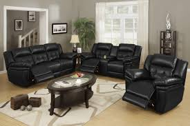 amazing living room design with black leather sofa ideas