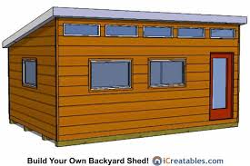 10x15 Storage Shed Plans by Modern Shed Plans Modern Diy Office U0026 Studio Shed Designs