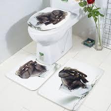 badezimmer teppich set elefant badvorleger badteppich toilettenbezug badezimmermatte badematten