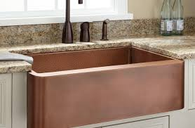 sink 42 sunflower 60 40 offset bowl copper farmhouse sink