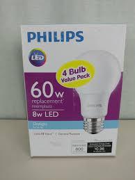 60w equivalent daylight a19 led light bulb 4 pack 9290011352a new