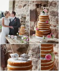 Naked Wedding Cake Cakes By Becky Cute Toppers High House Farm Brewery