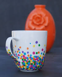 DIY Polka Dot Mug Pottery Painting Ideas EasyPainting