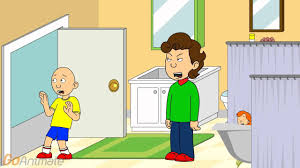 caillou pees in rosie s bathtub explodes youtube