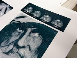 Laser Engraved Linoleum Print