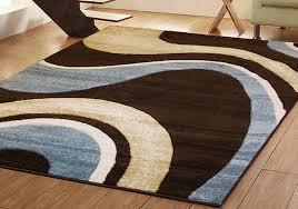 Pleasing Brown And Blue Rug Rugs Inspiring