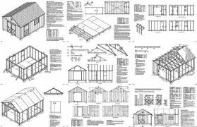 16x12 Shed Material List by 16 U0027 X 12 U0027 Gable Storage Shed Project Plans Design 21612