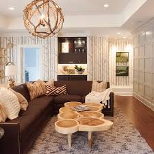 Brown Sectional Living Room Ideas by Console Table Behind Sectional Design Ideas