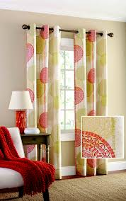 Tahari Home Curtains Yellow by Mainstays Hanging Medallion Grommet Curtain Panels Set Of 2 80