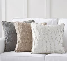 pinch pleat linen pillow cover pottery barn