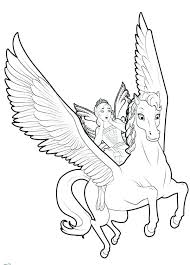 Unicorn Coloring Pages Printable Flying With Fairy Free