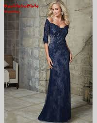 navy blue long mermaid dresses promotion shop for promotional navy