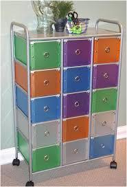 Rolling 10 Drawer Craft Organizer Cart Multi Color