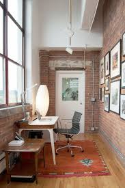 Trendy Textural Beauty: 25 Home Offices With Brick Walls Tips For Interior Lighting Design All White Fniture And Wall Interior Color Decor For Small Home Office Lighting Design Ideas Interesting Solutions Best Idea Home Various Types Designs Of Pendant Light Crafts Get Cozy Smart Homes Amazing Beautiful With Cool Space Decorating Gylhomes Desk Layout Sales Mounted S Track Fixtures Modern
