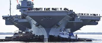 plus gros porte avion du monde le futur porte avions nucléaire américain prend enfin la mer