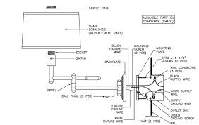 Swivel Swing Arm Wall Lamp Assembly