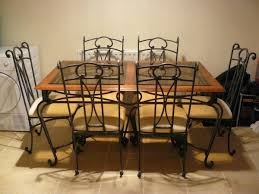 Dining Room Table & 6 Chairs - Wrought Iron In MK42 End For £40.00 ...