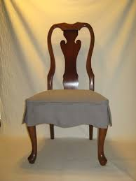 White Loose Dining Room Chair Cover