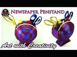 Youtube Art And Craft 1 Newspaper Basket Handmade With Creativity